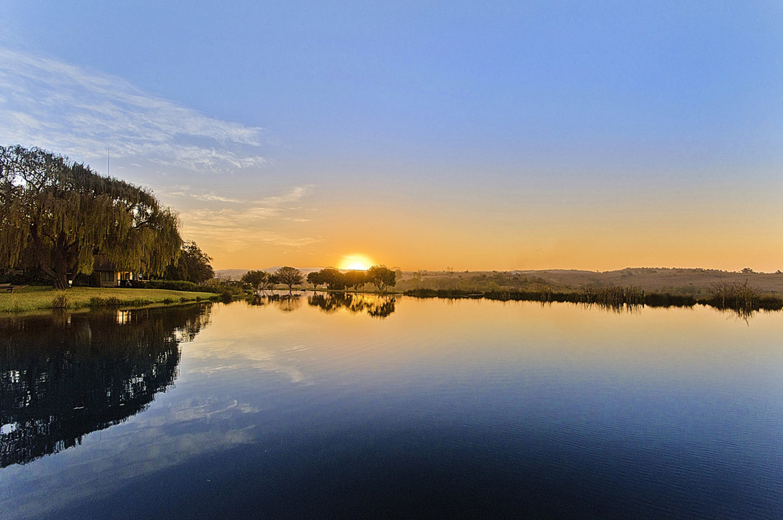 Sunset at Stornoway Lodge
